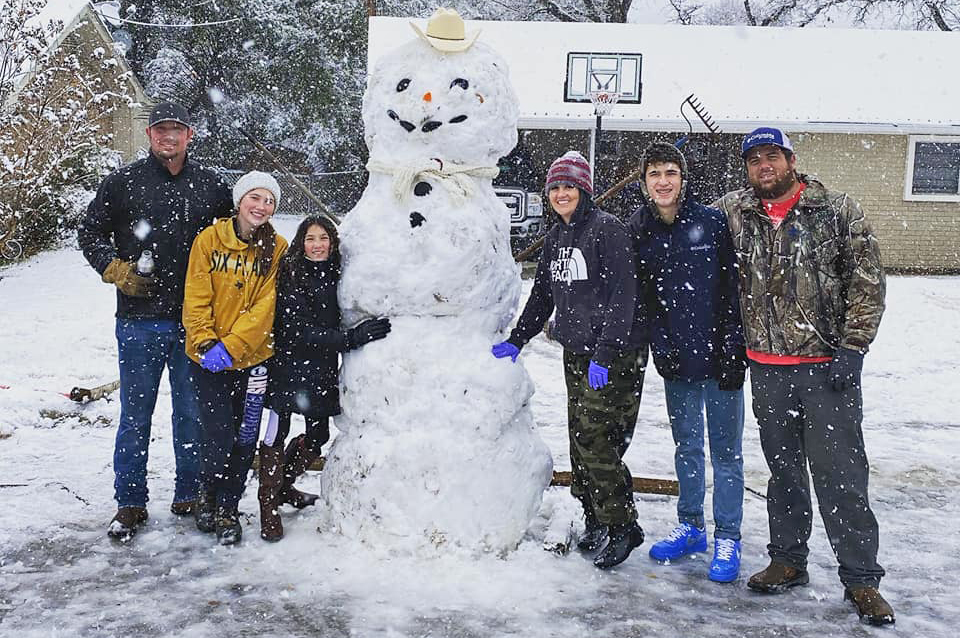 This snowman photo was submitted by Ryane Jacks.