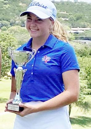 LeeAnn Parker -- a silver medalist at the regional golf preview and bronze medalist at the state preview -- won her third straight West Texas Junior Champions Tour (pictured above). She later signed with Angelo State University. Lampasas beat nine-time defending state champ Andrews this fall in a regular-season tournament. COURTESY PHOTO
